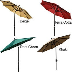 Aluminum 9-foot Elegant Collar-tilt Patio Umbrella