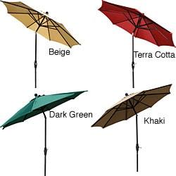 Aluminum 9-foot Elegant Collar-tilt Patio Umbrella