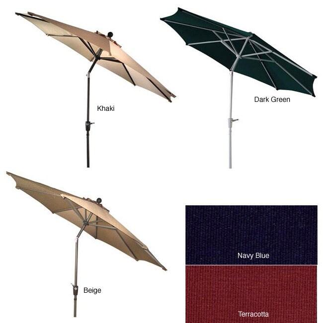Lauren & Company Aluminum 9-foot Auto-tilt Market Umbrella