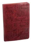 Names of Jesus - Burgundy Flexcover Journal (Notebook / blank book)