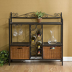 Baker's Rack with Wine Storage