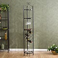 Upton Home Round Metal Wine Storage Tower