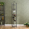 Round Metal Wine Storage Tower