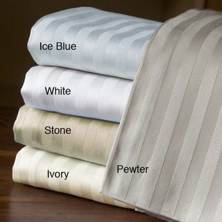 Egyptian Cotton 800 Thread Count Solid Striped Sheets Set