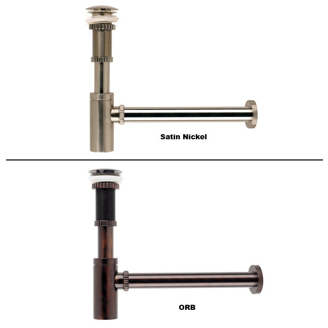 Kraus Parts P-trap and Vessel Sink Pop-up Drain Combo - 11748610 ...