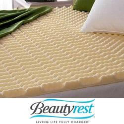 Beautyrest Cut-zoned Convoluted Polyurethane Foam Mattress Topper