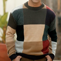 Alpaca Wool 'Longitudes and Latitudes' Sweater (Peru)