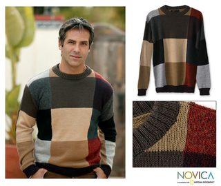 Alpaca Wool 'Longitudes and Latitudes' Sweater (Peru)