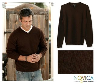 Alpaca Wool 'Woodlands' Sweater (Peru)