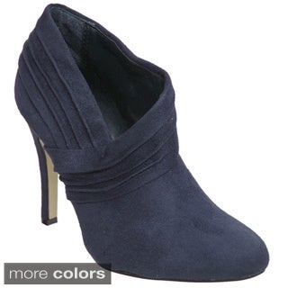 Journee Collection Women's Faux Suede High Heel Booties