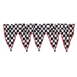 Checkerboard Window Valance