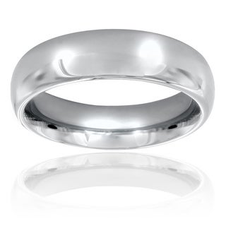 West Coast Jewelry Men's Titanium Domed Polished Comfort Fit Band (6 mm)