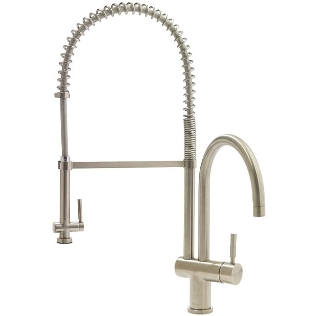 VIGO Solid Brass Stainless Steel Pull Down Spray Kitchen