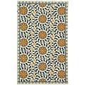 Safavieh Hand-hooked Majestic Ivory/ Blue Wool Rug (2'9 x 4'9)