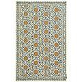 Safavieh Hand-hooked Majestic Ivory/ Blue Wool Rug (5'3 x 8'3)