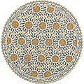 Safavieh Hand-hooked Majestic Ivory/ Blue Wool Rug (5'6 Round)