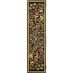 Safavieh Hand-hooked Garden Black Wool Runner (2'6 x 12')