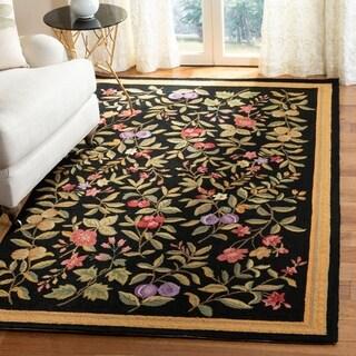 Safavieh Hand-hooked Garden Black Wool Rug (3'9 x 5'9)