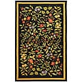 Safavieh Indoor Hand-hooked Garden Black Wool Rug (7'9