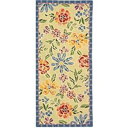 Safavieh Hand-hooked Mosaic Ivory Wool Rug (2'6 x 6')