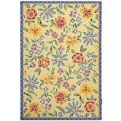 Safavieh Hand-hooked Mosaic Ivory Wool Rug (3'9 x 5'9)
