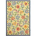 Safavieh Hand-hooked Mosaic Ivory Wool Rug (5'3 x 8'3)