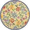 Safavieh Hand-hooked Mosaic Ivory Wool Rug (5'6 Round)
