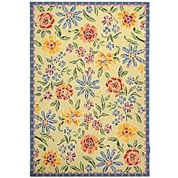 Safavieh Hand-hooked Mosaic Ivory Wool Rug (6' x 9')