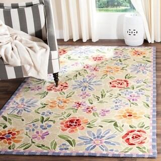 Safavieh Hand-hooked Mosaic Ivory Wool Rug (7'9 x 9'9)