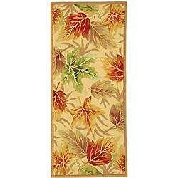Safavieh Hand-hooked Foliage Ivory Wool Runner (2'6 x 6')