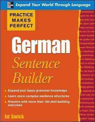 German Sentence Builder (Paperback)