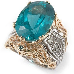 Michael Valitutti 14k Gold Apatite 1/2ct TDW Diamond Ring (I, SI)