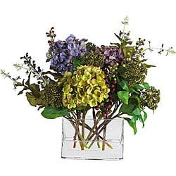 Mixed Silk Hydrangea Arrangement