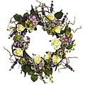 Hydrangea Rose 24-inch Wreath