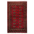 Hand-knotted Red/ Ivory Bokhara Wool Rug (3&#39; x 5&#39;) (Pakistan)