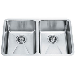 VIGO 29-inch Undermount Stainless Steel 18 Gauge Double Bowl Kitchen Sink