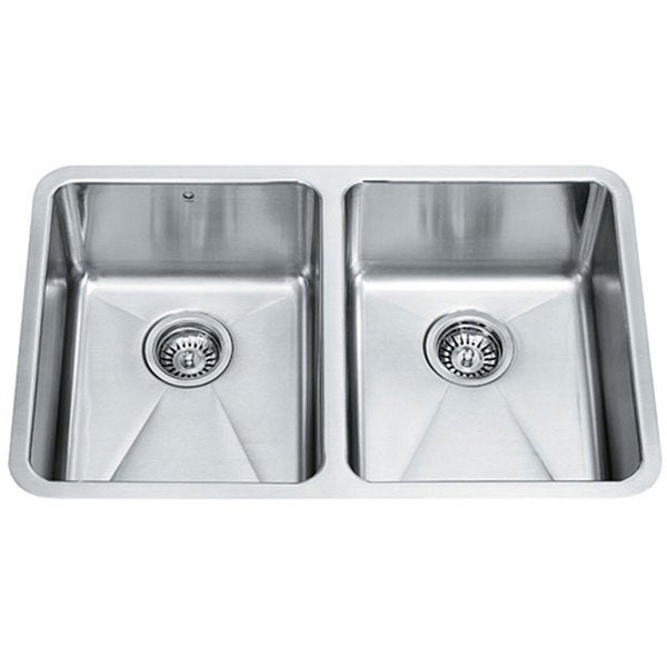 29-inch Undermount Stainless Steel 18 Gauge Double Bowl Kitchen Sink