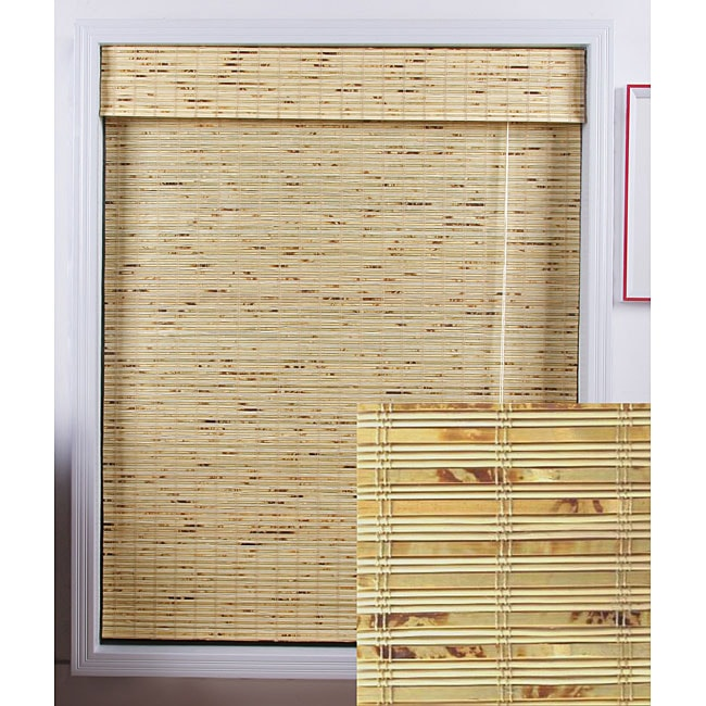 Petite Rustique Bamboo Roman Shade (29 in. x 74 in.)