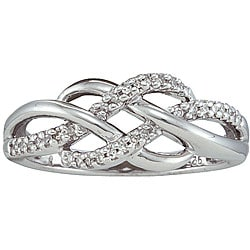 Sterling Silver 1/10ct TDW Diamond Infinity Fashion Ring
