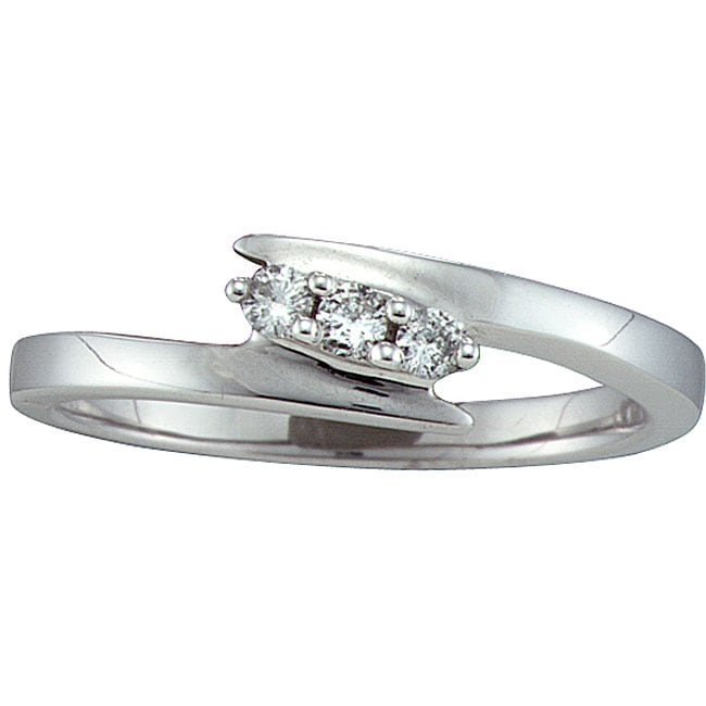 Unending Love Sterling Silver 1/10ct TDW Diamond Ring (I-J, I2)
