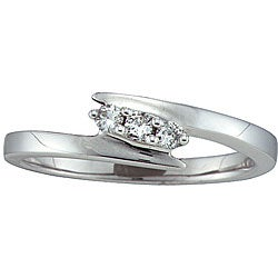 Sterling Silver 1/10ct TDW Diamond Ring (I-J, I2)
