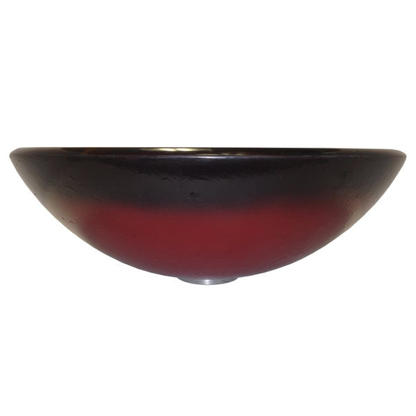 Fuoco Tempered Glass Vessel Sink