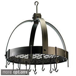 Domed Hanging 16-hook Grid Pot Rack