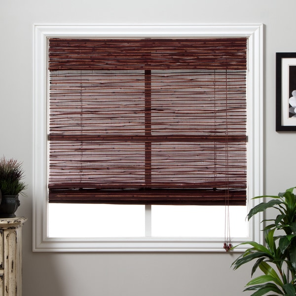 Rangoon Bamboo 74-inch Long Roman Shade