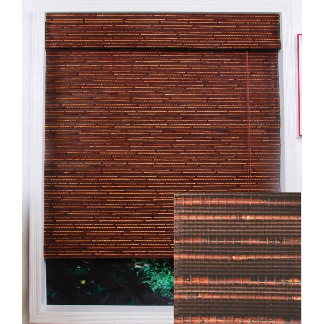 Rangoon Bamboo Roman Shade (32 in. x 98 in.)