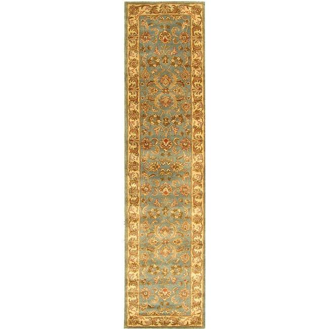 Safavieh Handmade Heritage Kermansha Blue/ Beige Wool Runner (2'3 x 10')