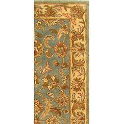 Safavieh Handmade Heritage Kermansha Blue/ Beige Wool Runner (2'3 x 14')
