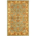 Safavieh Handmade Heritage Kermansha Blue/ Beige Wool Rug (3' x 5')
