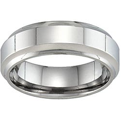 Unisex Titanium Beveled Band (7 mm)