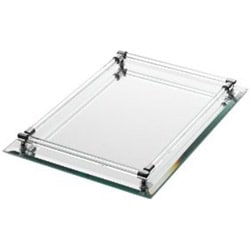 Danielle Rectangle Mirrored Vanity Tray